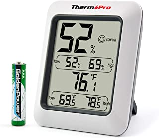 ThermoPro TP50 Digital Hygrometer Indoor Thermometer...