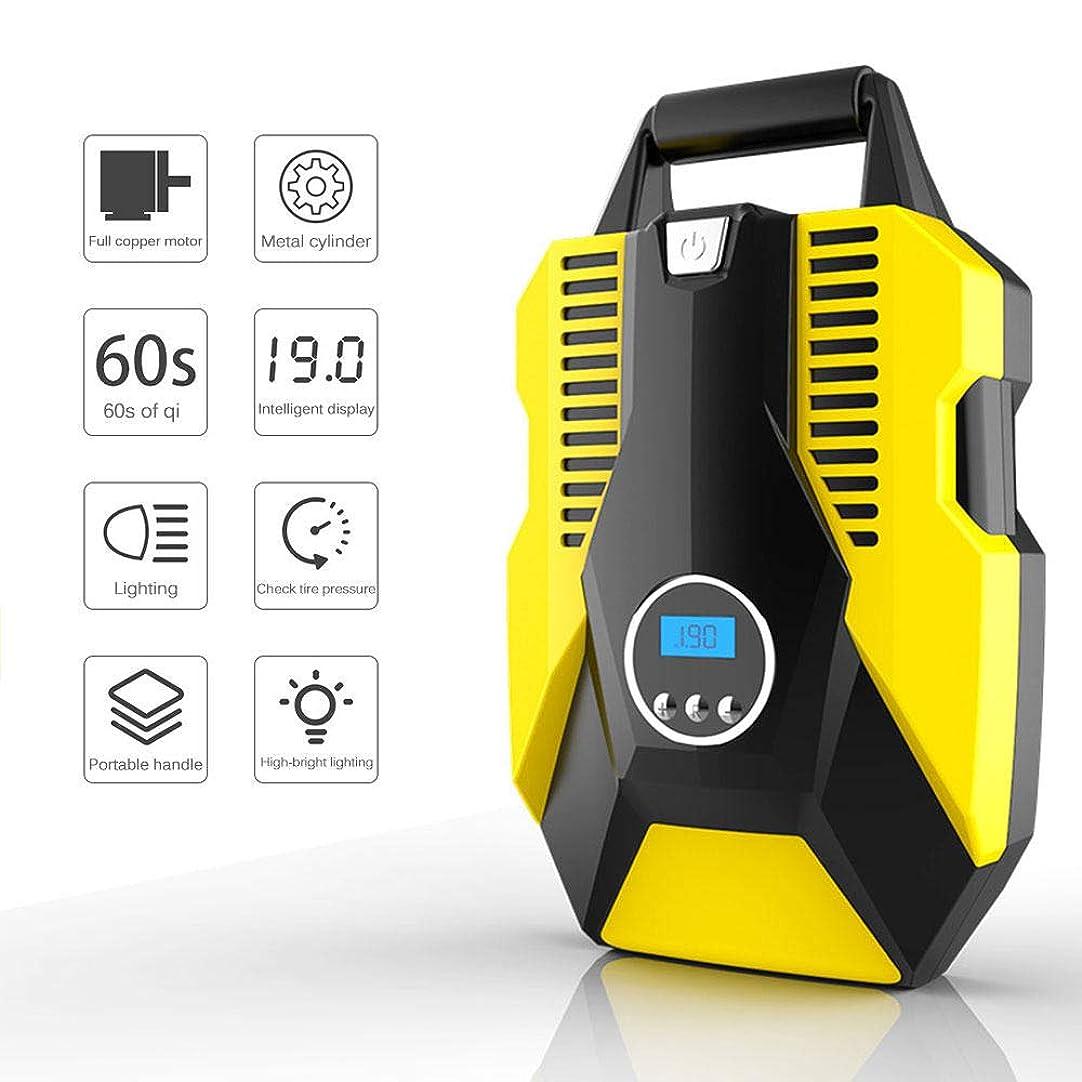 願望レジアクティブタイヤインフレータ、ポータブルエアコンプレッサーポンプ、LCDデジタルディスプレイとLEDライト付き車のタイヤインフレータ