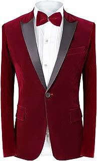 Men's 2 Piece Suit Tuxedo Suit Slim Fit Velvet Blazer Party One Button Stylish Dinner Jacket & Pants