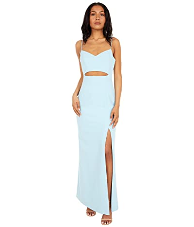 BCBGMAXAZRIA Crepe Cutout Gown with Slit
