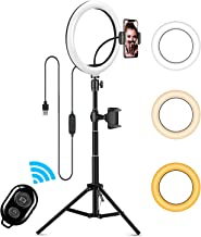 """$31 » 10"""" LED Selfie Ring Light, ITSHINY Dimmable Ring Light with 3 Light Modes & 11 Brightness and Tripod Stand Phone Holder fo..."""