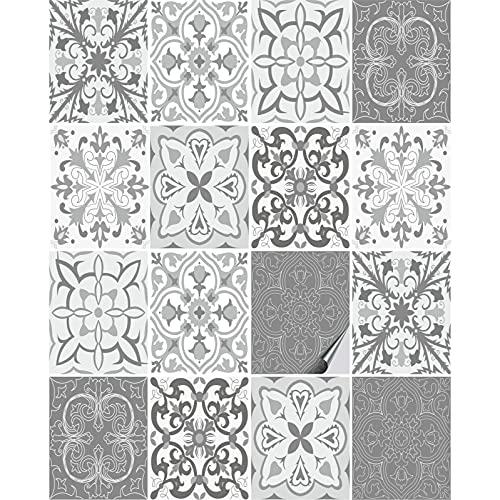 FoLIESEN, Graz Design, adesivo per piastrelle, per bagno, cucina, motivo piastrelle n. 4, 16 piastrelle adesive, larghezza x altezza: 20 x 25 cm