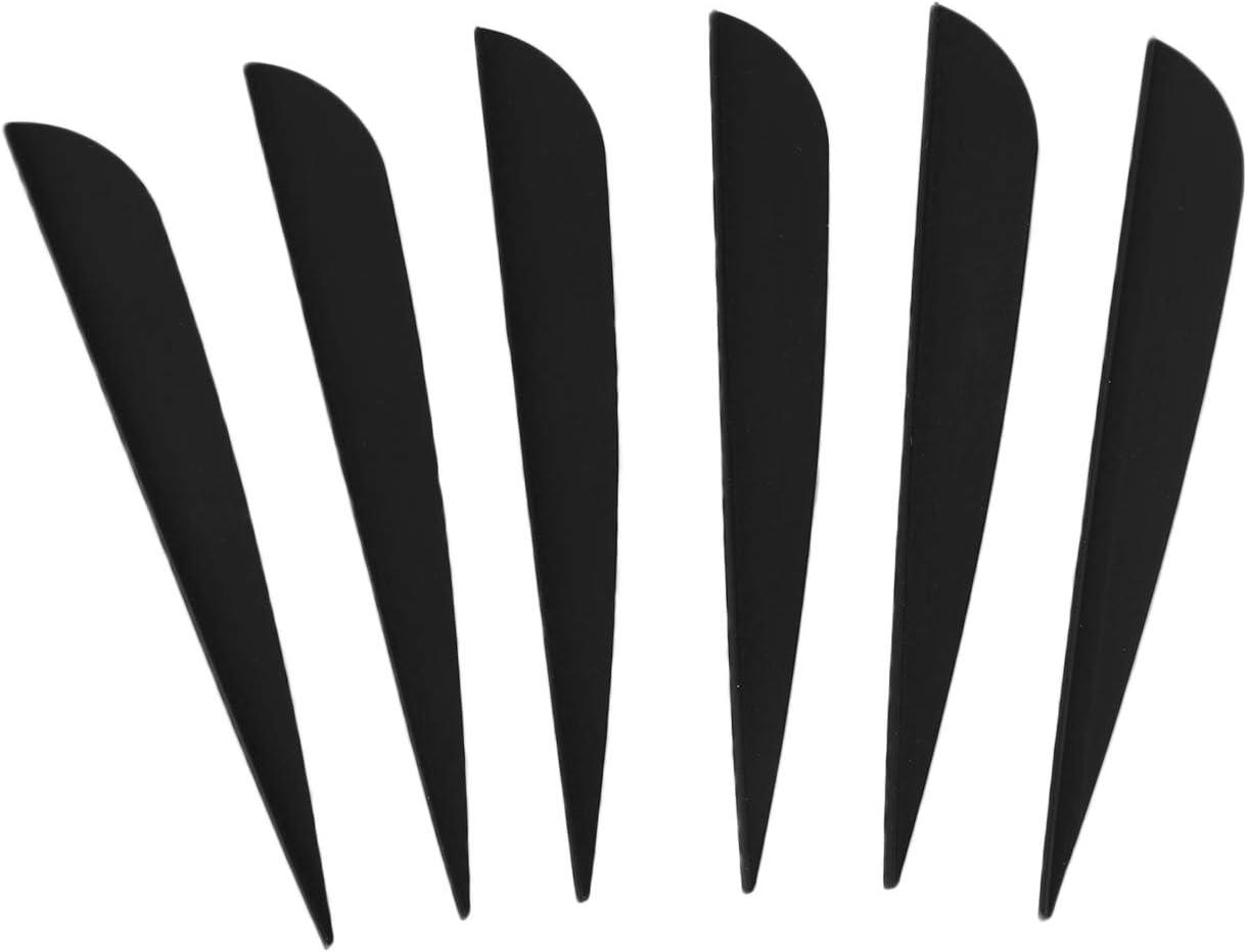 Noir TOOGOO Fl/èches /à Ailettes 4 Pouces Flammage de Plumes en Plastique pour Paquet de 50 Fl/èches de Tir /à larc Bricolage