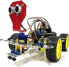 Festnight WiFi Control 2 Rastreo Ultrasónico Evitación de Obstáculos Robot Inteligente Chasis del Coche Kit Caja de Batería Módulo Ultrasónico 4WD Para Arduino Kit