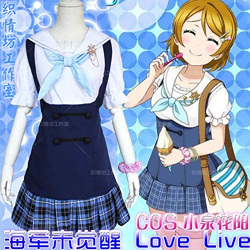 WSJDE Liebe Live Lolita Matrosenanzug Cos Anime Kostüm Täglich Hanayo Koizumi XL