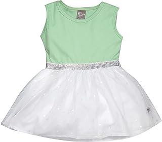 Little Kangaroos Baby Girl Dress, Green/White - ROGS2019926B