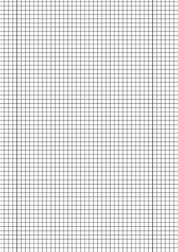 Brunnen 102142850Cancelleria–Carta millimetrata (80g/mq, A4, scuola–Lin. 28, 50fogli)