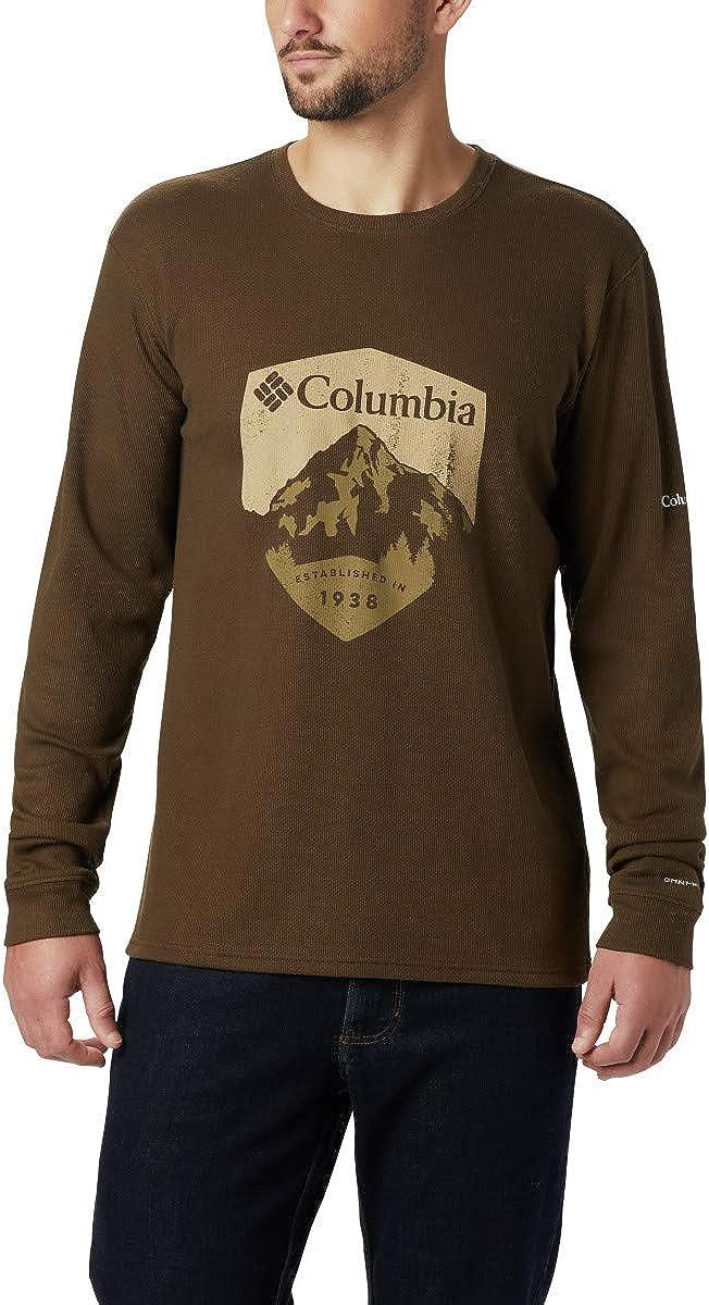 Columbia Men's Ketring Long Sleeve Graphic Crew II, Moisture-Wicking