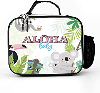Fun Aloha Baby Lunch Box with Padded Liner, Spacious Insulated Lunch Bag, Durable Thermal Lunch Cooler Pack for Boys Men Women Girls Adults
