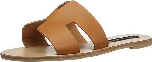 STEVEN by by Steve Madden Wohommes Greece Flat Sandal, Cognac Leather, 8 M US  grande remise