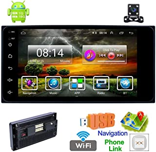 Double Din Car Stereo with Bluetooth Android 8.1 Universal Car Radio 7 Inch HD Touch Screen Car MP5 Player 1+16G Support GPS Navigation/WiFi/USB/AUX/AM/FM/DVR/Mirror Link/Backup Camera for Toyota