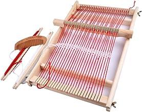 Agujas de tejer de madera 5 piezas para telar artesan/ías multiprop/ósito DIY manualidades antiguas zurcir grandes ojos tapices de costura suave Bobbin Home Tama/ño libre como se muestra en la imagen