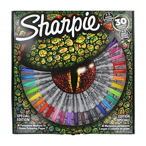 Sharpie Special Edition 30 Pack Markers with 3 Bonus Colouring Pages