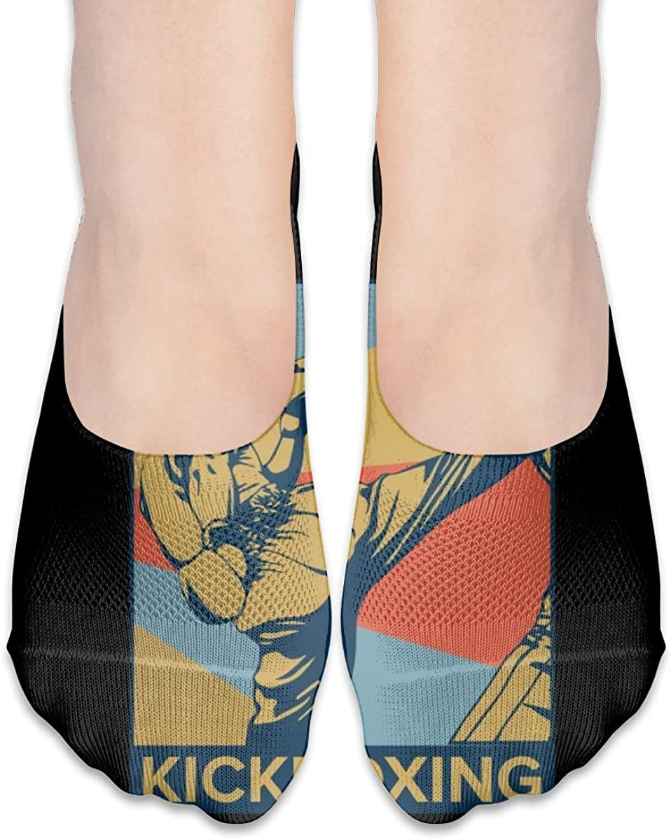 Personalized No Show Socks With Vintage Retro Kickboxing Print For Women Men