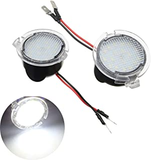 2pcs White Rearview Mirror Puddle Light for Ford, 2W 18 LED Under Side Rear Tow Mirror Puddle Lights for Ford Edge Fusion Flex Explorer Expedition Mondeo Taurus F-150 Raptor Heritage Pick-up
