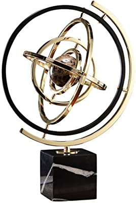 Glitzhome 13/'/' Luxury Glam Accent Metal Windmill Jewelry Holder Figurine Decor