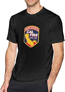 Shayprove Cal Fire Logo Man Cool Short Sleeve Tee