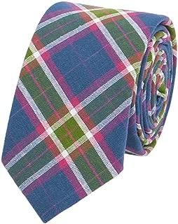 blue tartan tie