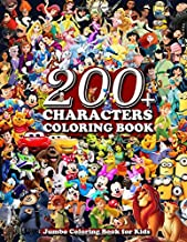 200+ Characters Coloring Book: Jumbo Coloring Book for Kids, Perfect Gift for Girls, Boys, Teenagers