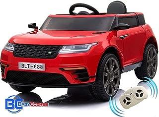 BC BABY COCHES Urban SUV Coche eléctrico niños con Mando teledirigido Padres y batería 12v (Rojo)…