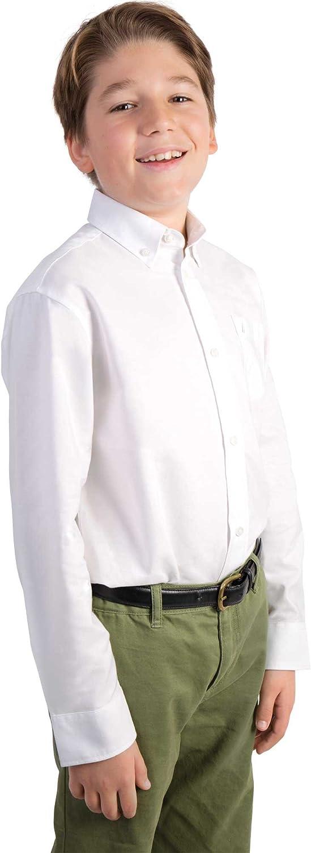 Nautica Boys' Solid Long-Sleeve Button-Down Shirt