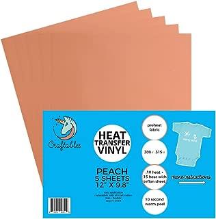 peach iron on vinyl