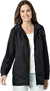 Women's Plus Size Zip Front Nylon Jacket