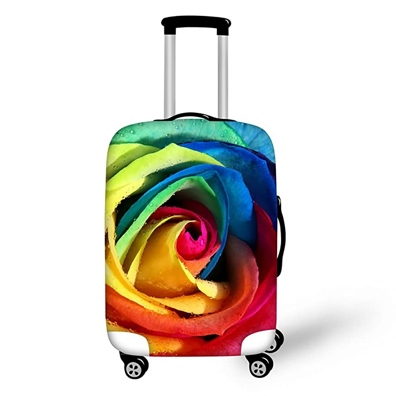 ThiKin Floral Print High Elastic Spandex Travel Luggage Cover for 18-30 inch Suitcase oormurxy392372