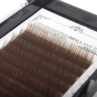 ffe338de0a3 Scala 1 Case,8-13mm to choose ,Nature Soft Brown Individual False Eyelashes