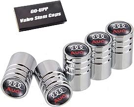 GO-UPP 5PCS Copper Car Wheel Tire Valve Stem Caps Covers for Audi A1 A3 RS3 A4 A5 A6 A7 S3 S4 S5 S6 S7 S8 RS7 A8 Q3 Q5 Q7 R8 S Line Car Styling Decoration Accessories (Sliver)