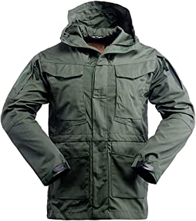 Minghe Army Coat Men Windproof Waterproof Tactical Windbreaker Jacket with Hood