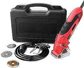 Mini Distribuidor Circular Conjunto, Multifunción Rojo Mini Distribuidor Circular 400W para Distribuidor Recto/Inmersión en Azulejo, Madera Dura, Contrachapado, Metal, Acero y Carpa