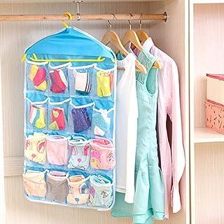MangoBuddy Washable 16 Grids Pouch Clothes Sock Underwear Bra Hanging Storage Bag Organizer (2)