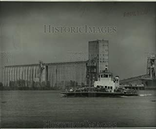 1974 Press Photo Luling-Destrehan Ferry on the Mississippi River, New Orleans - 8.25 x 10 in. - Historic Images