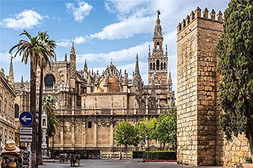 YANCONG Puzzle Personalizado 1500 Piezas, España Catedral De Sevilla, Arquitectura De La Ciudad