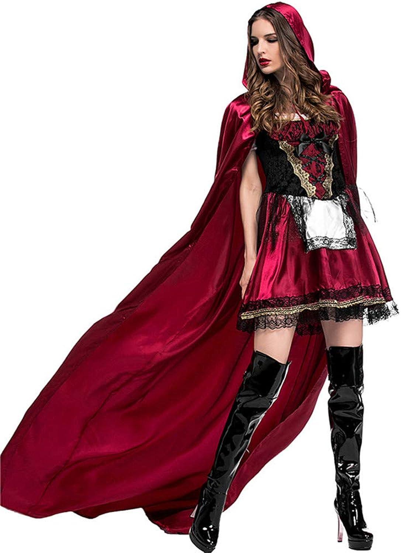 KTYX Cappotto da Cappuccetto Rosso da Donna Diverdeente Costume da Htuttioween con Scituttie con Cappuccio Abiti di Htuttioween (Dimensioni   L.)