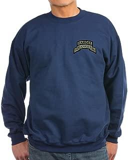 CafePress - 75th Ranger REGT Scroll with Sweatshirt (Dark) - Classic Crew Neck Sweatshirt