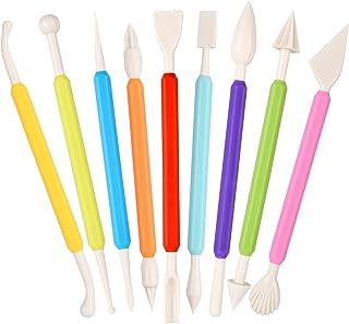 9 Pièces Outils de Modelage pour Pâtisserie, Outils de Sculpture de Fondant à Double Extrémité, Outils Pate a Sucre Outils...