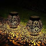 DazSpirit Linternas Solares, Farol Solar Exterior, Luces Solares para Colgar Lámpara de Decoración IP65 Impermeable para Decoracion Jardin, Patio, Terraza, Arboles, Césped, Fiesta (2 pack)