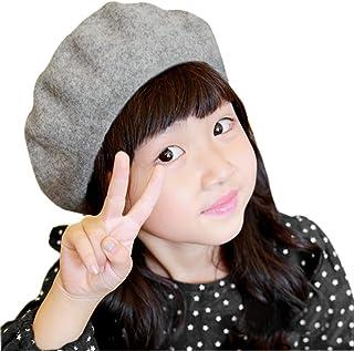 Fakeface Wool French Beret Cap for Girls Boys Classic Parisian Hat Artist Beret Tam Winter Bailey Hat Beanie Cap