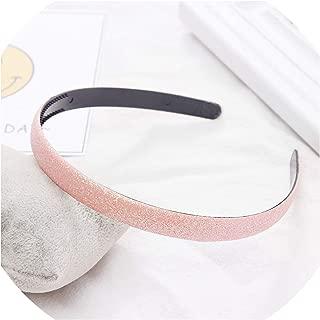1PC New Women Girls Cute Glitter Scrub Candy Colors Hairbands Headband Hair Holder Headwear Hair Bands Fashion Hair Accessories,Light Pink