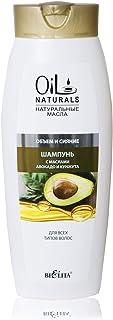 Bielita & Vitex Oil Naturals Line | Volume & Shine Oils Shampoo for All Hair Types, 430 ml | Avocado Oil, Silk Proteins, Sesame Oil, Vitamins