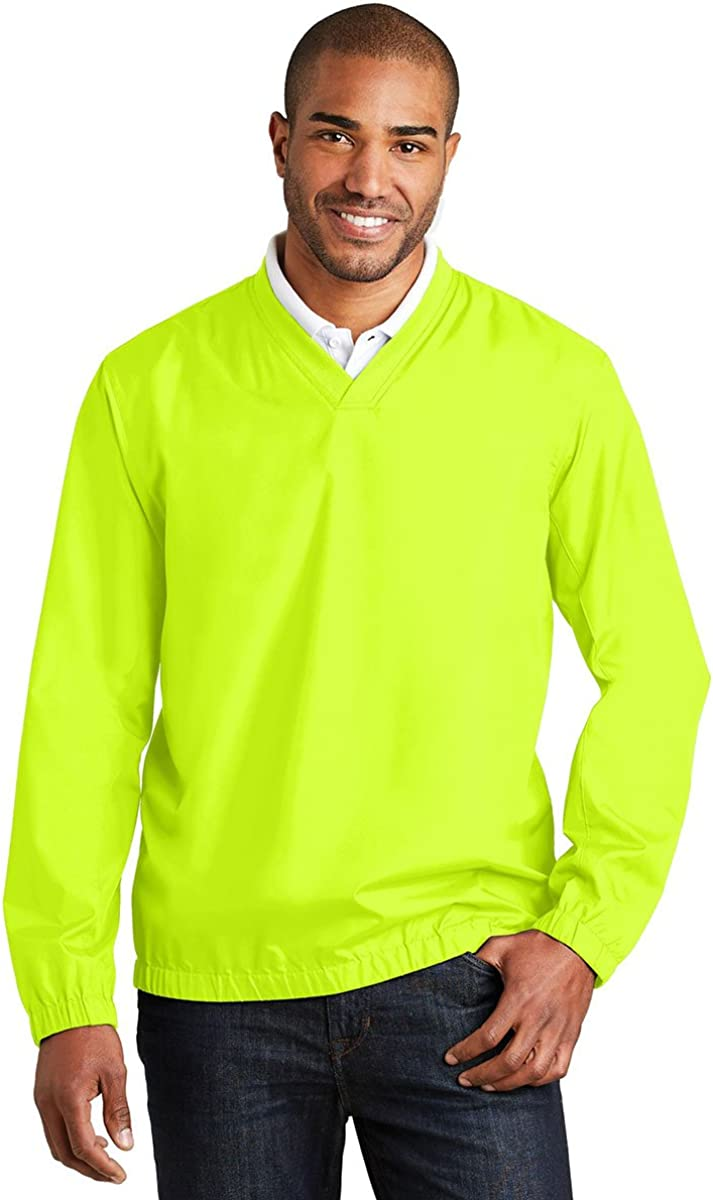 Port Authority Zephyr V-Neck Pullover, Safety Yellow, X-Small