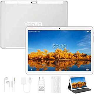 Yestel Tablet touchscreen 10,1 inch Android 10.0 met WI-FI-tablets met 4 GB RAM + 64 GB ROM, HD-camera 5 MP + 8 MP, dual-s...