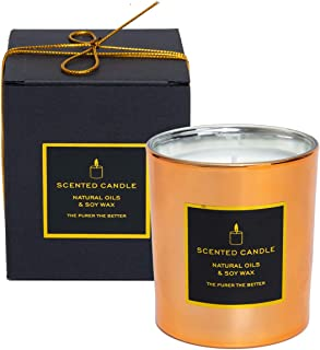 Scented Candle for Women Gifts Lavender 8.1oz Soy Aromatherapy Luxury Candles