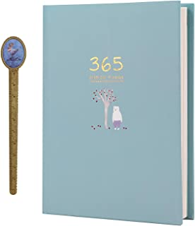 365 Daily Planner Journal-Yearly Monthly Daily Personal Planner Non-Numbered Blank Dream Goal Notepad for DIY,Sketching,Notes and Lists,Study Schedule,Business Agenda,Dairy,Scrapbook,256 Page