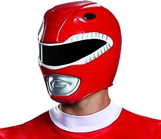 Disguise Men's Red Ranger Adult Helmet