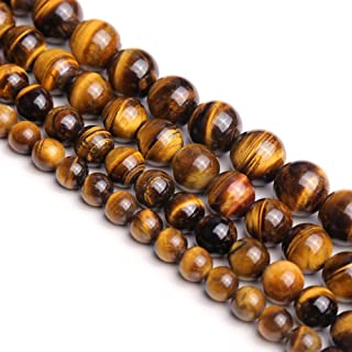 Natural Round AA Tiger Eye Agate Loose Stone Beads Bulk For Jewelry Making 4MM, 6MM, 8MM, 10MM ,12MM (12mm)