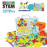 YIJIAOYUN 237 stücke kreative bohrmaschine Schraube Puzzle Lernen Spielzeug 3D bausteine DIY stiel pädagogisches BAU Set für Kinder