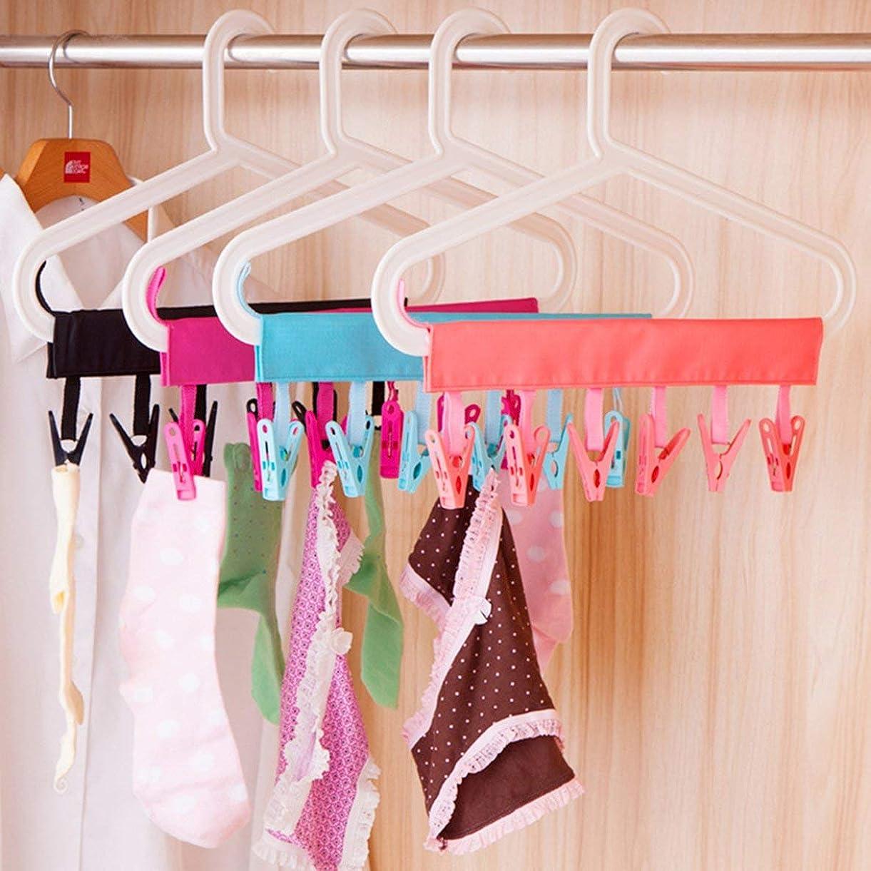 証拠敷居リズミカルな乾燥ラックバスルームラック取り外し可能な洗濯ばさみ布クリップトラベルポータブル折りたたみ布ハンガークリップ-ピンク